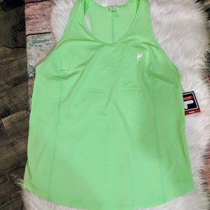NWT XXL women's plus Fila sport tri stretch mint